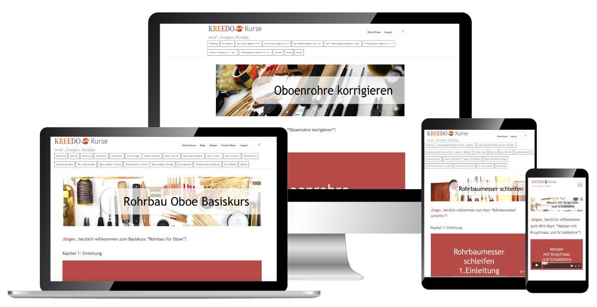 Kreedo Onlinekurse für Rohrblattbau