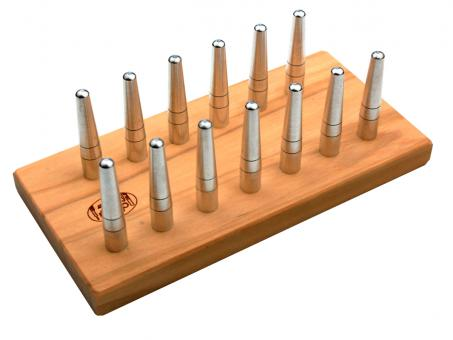 bassoon reed drying rack: 13 reeds, olive wood