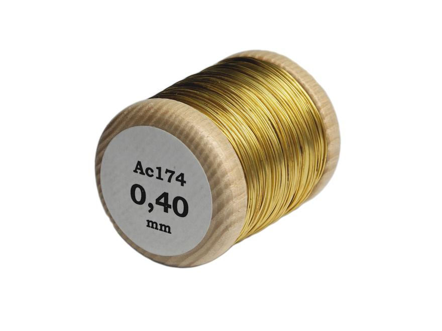 brass thread: 0.4 mm