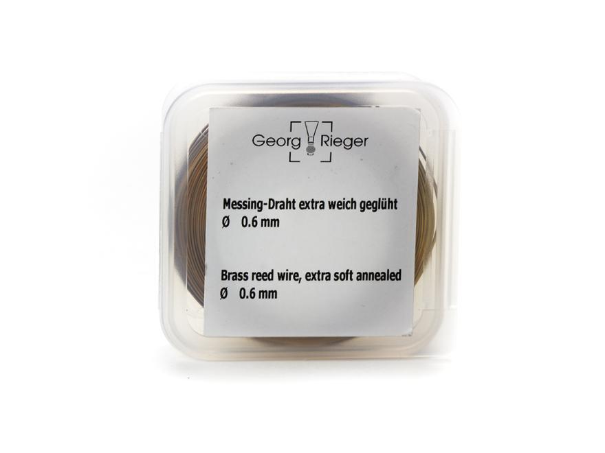 [Rieger] brass wire: Ø 0.6 mm, extra soft, 150g