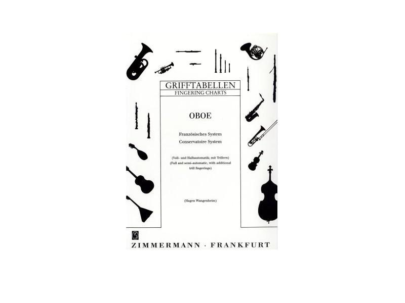 Grifftabelle für Oboe (deutsch), B-Ware
