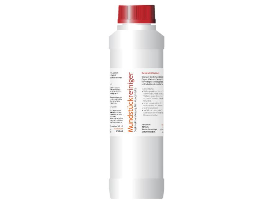 Mundstückreiniger: Desinfektionslösung für Rohre 250 ml