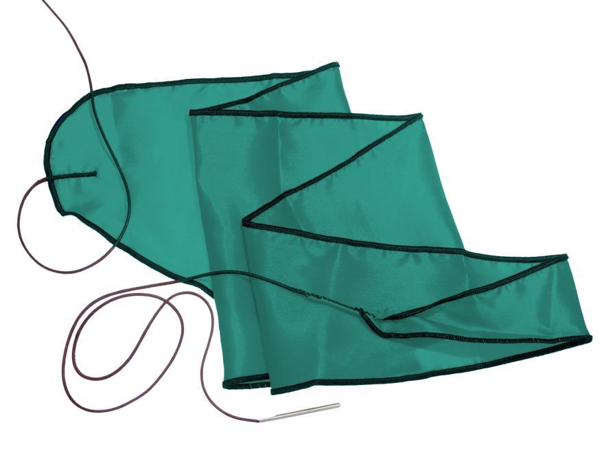 Oboen-Durchziehwischer: 1-tlg., Seide